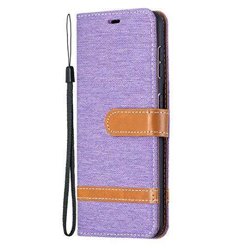 Hülle für Galaxy S21 Lederhülle Flip Tasche Klappbar Handyhülle mit [Kartenfächer] [Ständer Funktion], Cover Schutzhülle für Galaxy S21 - JEBF031485 Violett