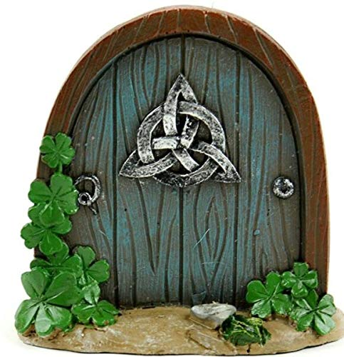 NIBOMID - Outdoor Ornaments, Statues Fairy Garden Supplies for Celtic Fairy Garden Door MI 55804 Miniature Fairy Garden DIY for Miniature Fairy Garden Accessories