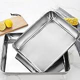 Teglia da forno estraibile, estendibile, forno: forno, teglia da forno in acciaio inox, rettangolare, teglia da forno per forno, teglia da forno con antiaderente, 25 x 30 cm