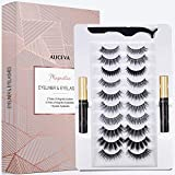 Magnetic Eyeliner and Lashes by Aliceva, Magnetic Eyelashes Kit, 10 Pairs Reusable Magnetic Eyelashes & Magnetic Eyeliner with Tweezers