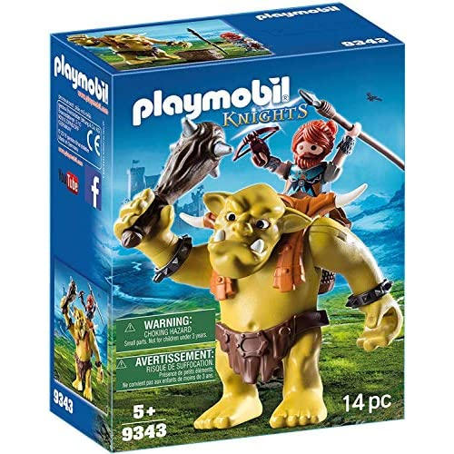 Playmobil Knights 9343 - Guerriero con Troll Gigante, dai 4 anni