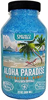 Spazazz SZCH SPZ-303 Hawaii Aloha Paradise Destination Crystals Container, 22 oz. Aromatherapy, Blue
