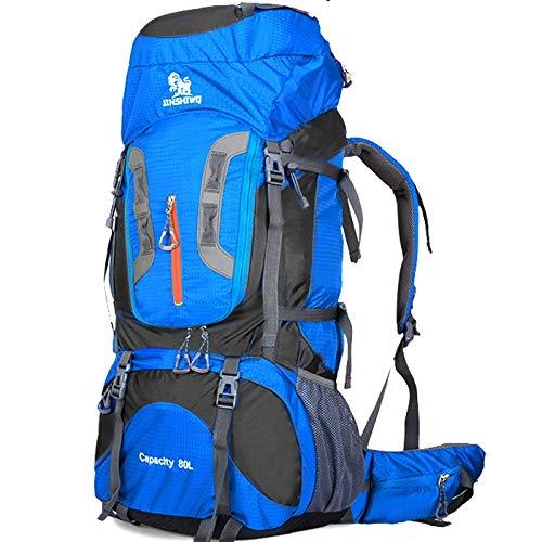 HKHJN Mountaineering Bag Grote Capaciteit 80l Aluminium Beugel Outdoor Rugzak Reistas Wandelen Camping Tent Rugzak HKHJN
