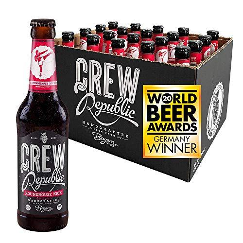 CREW REPUBLIC® Roundhouse Kick Imperial Stout Craft Bier | Gewinner World Beer Awards 2020 Stout & Porter | Bierspezialität nach deutschem Reinheitsgebot in Bayern gebraut (20 x 0,33l)