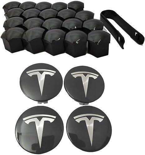 Nero Ricambio per Tesla Model 3 Almabner Set di 6 Tappi di Protezione per Serratura della portiera Non Null Taglia Libera