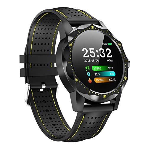 JANEFLY Waterdichte Fitness Smart Tracker, Rate Monitor met Hartmeter Waterdichte IP68 Smart Watch Stappenteller Activiteit Trackers Polsband Step Counter voor Kinderen Vrouwen Mannen, Geel