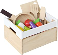 Tansu no Gen 6570001 01 (64841) Pretend Play Set, ST Standards, Plain-Use Tests, Food Sanitation Law Exest, Embedded Magnet, Natural Wood, Body Friendly Water Based Paint, 12-Piece Set, Wood