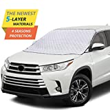 Windshield Snow Cover,Car Windshield Snow Cover with 5 Layers Protection,Windshield Cover ...