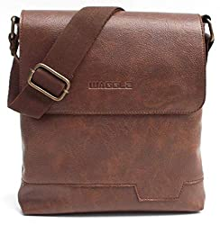 WAGGLE Men's Sling Bag (Brown),WAGGLE