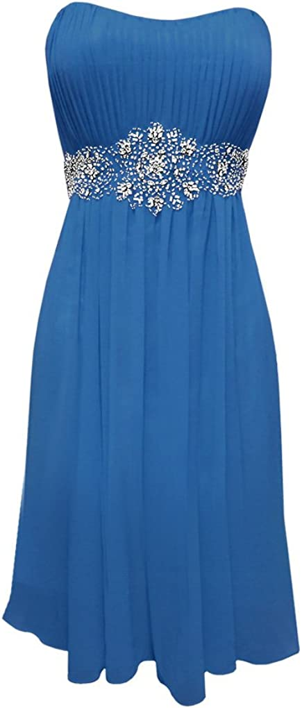 Strapless Chiffon Goddess Prom Dress Knee-Length Junior Plus Size