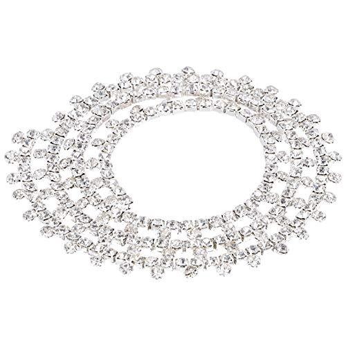 Cadena de garra Cadena de diamantes de imitación, Cadena de decoraciones artesanales tipo T decorada para accesorios de decoración de ropa de bricolaje