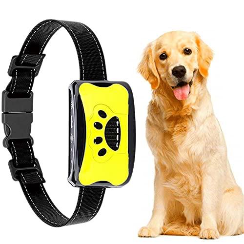 Erziehungshalsband Hunde Halsbänder, Nylon Hundehalsbänder Anti Bellen Halsband Mit Vibration, Sound Automatisches Trainingsgerät Für Kleine, Mittelgroße Und Große Hunde Stoppt Bellen Gelb