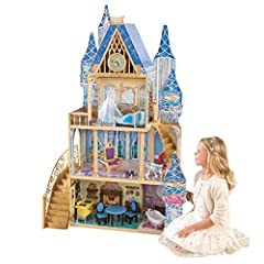 5 Rooms of open space to play and decorate Features a glass slipper and pillow perfect for Cinderella and her Prince Gold attic doors open right into Cinderella's sewing room Packaged with detailed, step-by-step assembly instructions Accommodates fas...