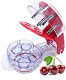 Cherry Pitter Tool, Olive Pitter Tool, 6 Capacity At Once, Red