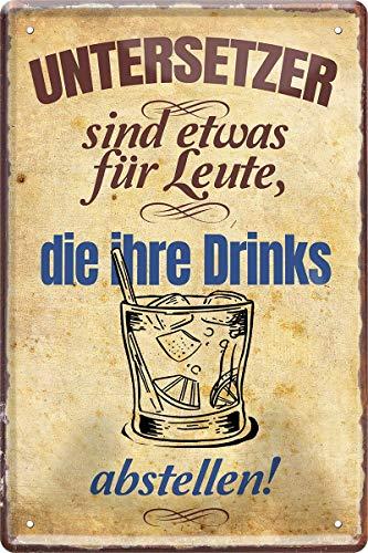 Plaque en tôle pour drink - 20 x 30 cm - Décoration de bar