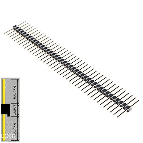 Generic 40 Pin Breakaway Headers 0.1' Male Equal Length Long Centered 6.25mm on Both Sides 15mm in Total(pack of 10)