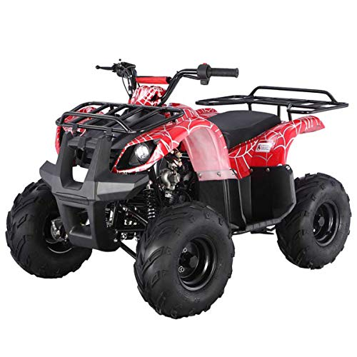 X-PRO 125cc ATV Quad ATV Youth ATV 4 Wheeler 125 ATV Quad,Spider Red
