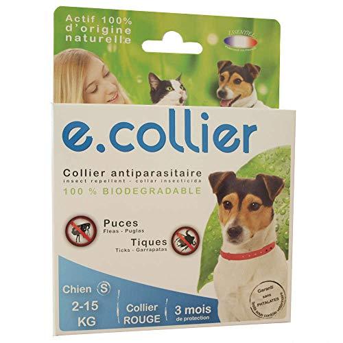 Collana antiparassitario biodegradabile–Cani di piccola taglia–Rosso