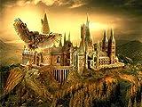 Bordado De Diamante Redondo Castillo De Harry Potter 5D Pintura Diamante Bricolaje Punto De Cruz...