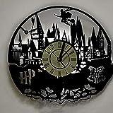 LittleNUM Disco de Vinilo Reloj de Pared LED Reloj de Pared Creativo Harry Potter Vinilo Decorativo Reloj de Pared,Battery Box