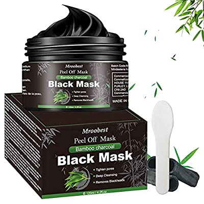 Blackhead Mask, Peel Off Mask, Blackhead Remover Mask, Face Mask with Activated Carbon, Purifying Black Face Mask, Deep Skin Clean Purifying Acne - 120g