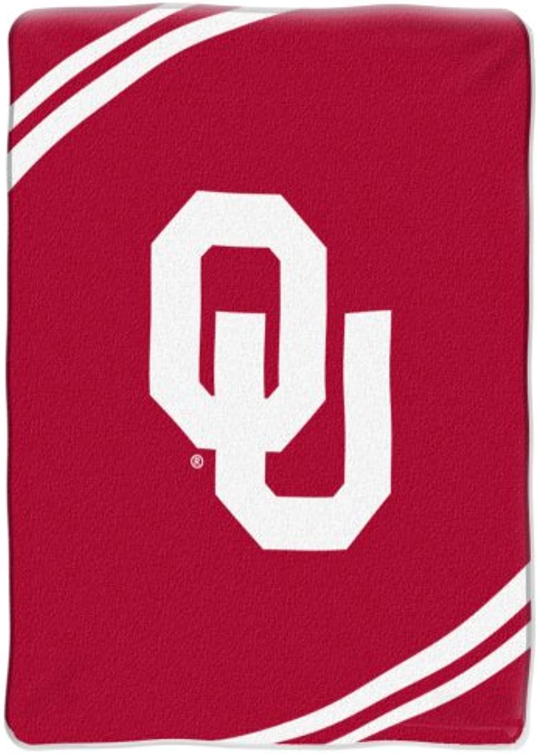NCAA Oklahoma Sooners 60-Inch-by-80-Inch Raschel Plush Blanket Force  Design