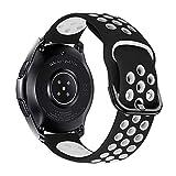 iBazal 22mm Cinturino Galaxy Watch 46mm Silicone Cinturini di Ricambio per Samsung Gear S3 Frontier...