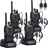 Nineaccy Walkie Talkies Rechargeable Walkie Talkie Long Range 2 way radio Set Walky Talky with Earpieces...