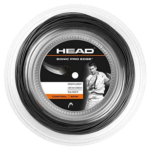 HEAD Unisex-Erwachsene Sonic Pro Edge Rolle Tennis-Saite, Anthracite, 17
