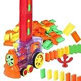 LICHENGTAI Set di Giocattoli per Treni, Treno Elettrico Domino, Trenino Automatico Colorato in Mattoni, Giocattolo di Plastica Fai da Te, per Bambini Giocattolo Educativo per Bambini