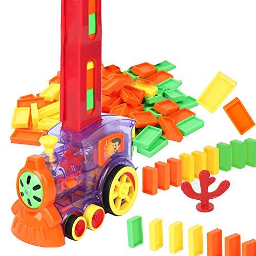 LICHENGTAI Tren Eléctrico Domino de Inteligencia Infantil, Juego automático de distribución de...