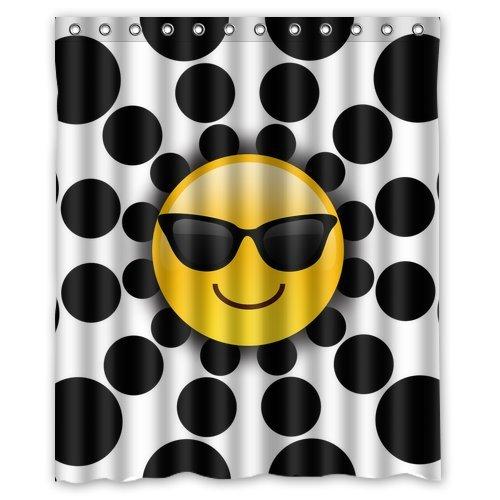 """dreamofiice Custom patrón decoración del hogar, Emoji cortina de ducha de tela de poliéster de baño conjuntos 60""""x 72"""""""