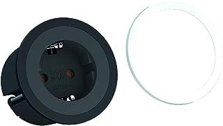 Bachmann 926.000 PIX 1x skyddskontakt uttag plast svart