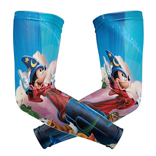 Mickey Mouse Magic Arm Sleeve - UV Protection Cooling Compression Sun Sleeves for Men & Women for Running, Cycling,Baseball, Basketball, Golf