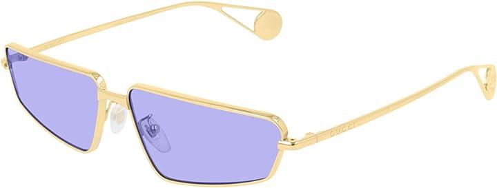 occhiali da sole gucci gg0537s gold/blue donna gg0537s-006 63