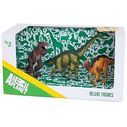 Animal Planet Mojo Deluxe 3 Piece Assorted Dinosaurs Toy Replica Figure Educational Learning Collectable Model Box Set New 387305