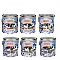 アサヒペン 水性多用途カラー 1.6L ラフィネオレンジ 6缶セット