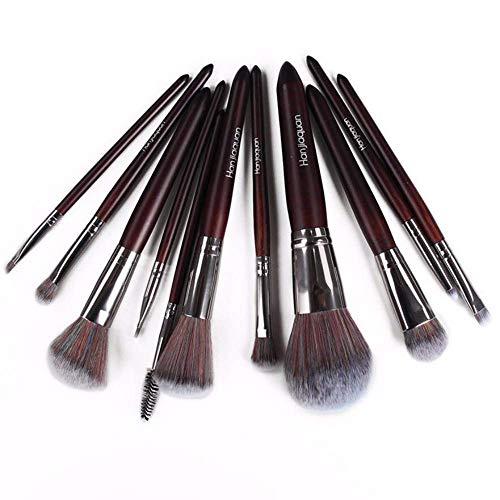 JFFFFWI Pinceau de Maquillage 11 pinceaux colorés pinceaux cosmétiques Ensemble Outils cosmétiques pinceaux cosmétiques