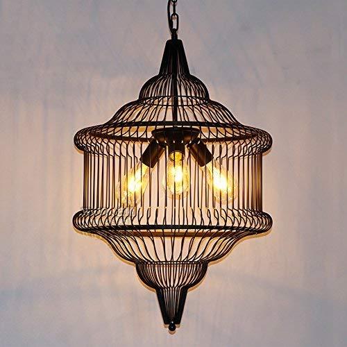 Retro kroonluchter voor industriële landbouw, eenvoudige ophanging van gietijzer/kroonluchter, kroonluchter, binnenverlichting, druppellight, 40 W, E27 (Edition: 3 lichtbronnen)