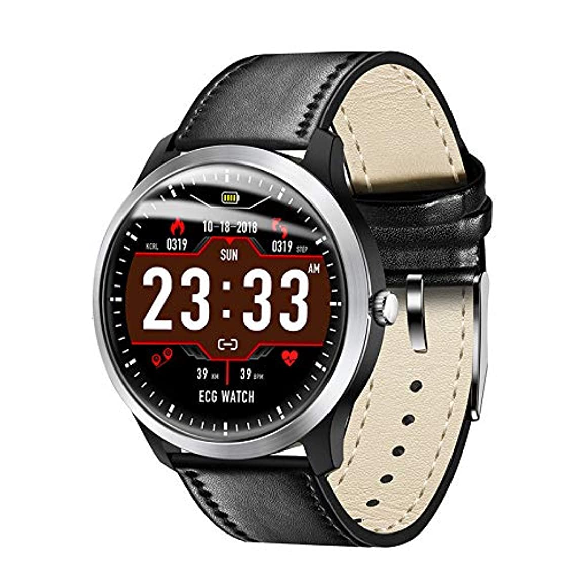 無臭政令落ち着く新版 腕時計 スマートウォッチ ビジネス時計 多国言語対応 心電図 歩数計 血圧計 心拍計 睡眠検測 着信通知 健康管理 IP67防水 スマートブレスレット スポーツウォチ iOS&Android対応