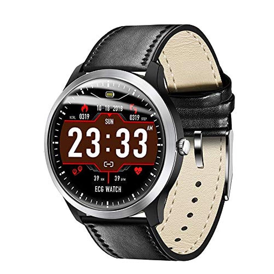 瞑想する長さ材料新版 腕時計 スマートウォッチ ビジネス時計 多国言語対応 心電図 歩数計 血圧計 心拍計 睡眠検測 着信通知 健康管理 IP67防水 スマートブレスレット スポーツウォチ iOS&Android対応