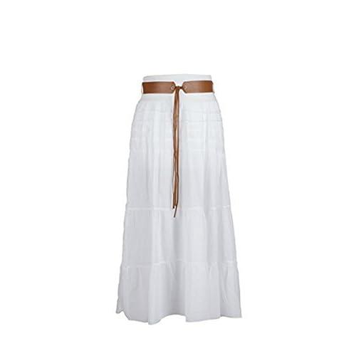 Sevello Clothing Ladies Italian Hi Waisted Cotton Skirt Gypsy Layered Asymmetric Long Maxi Skirt Festival Ethnic Print Festival Holiday Carnival Vintage Longline Skirt