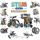 CIRO STEM 12-en-1 Education Solar Robot Kit Stem Toys 190 pièces Kit d'expérimentation de Science de la Construction Bricolage pour Les Enfants de 8 à 10 Ans et Plus, à énergie Solaire