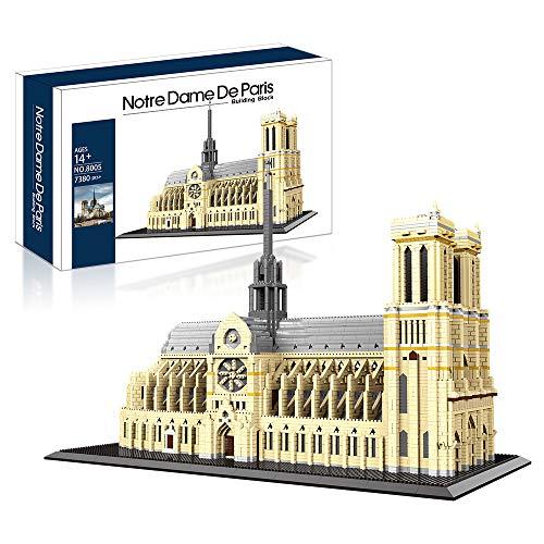 Big Architecture Model Kits Notre Dame De Paris Micro Blocks 7380 Pieces Model Building Kit,...