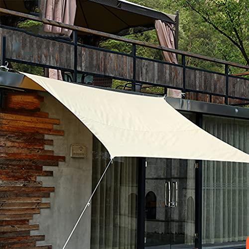 YJKDM Vela Parasol, Capucha Impermeable, protección de Sombra Rectangular, 95% de protección UV, toldo de Fiesta en la terraza al Aire Libre, protección Solar