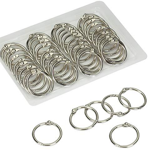 Mr. Pen- Loose Leaf Binder Ring, 40 Pack, Binder Rings 1 Inch, Binder Rings, Book Rings, Metal Rings for Index Cards, Rings for Flash Cards, Index Card Rings, Paper Rings, Small Binder Ring, Book Ring