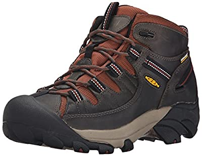KEEN Men's Targhee II Mid Waterproof Hiking Boot, Raven/Tortoise Shell, 7 M US