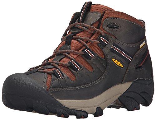 KEEN Men's Targhee II Mid Waterproof Hiking Boot, Raven/Tortoise Shell, 9.5 M US