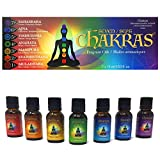 Chakras Relaxation Essential Oils Set of 7 - Concentrated Natural Oils for Diffuser, Massage,...