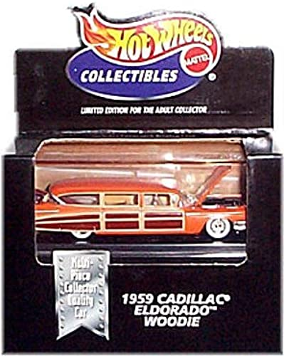 Hot Wheels Collectibles - Limited Edition Cool Collectibles - 1959 Cadillac Eldorado Woodie (Orange w braun Side Panels) - Mounted in Collector's Display Case